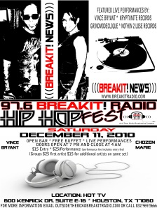 97.6 BreakIt! Radio HIP HOP Music Fest (Networking Opportunity)
