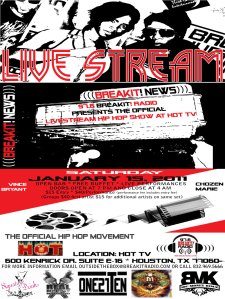 97.6 BreakIt! Radio Presents the Official Live Stream Hip Hop Show